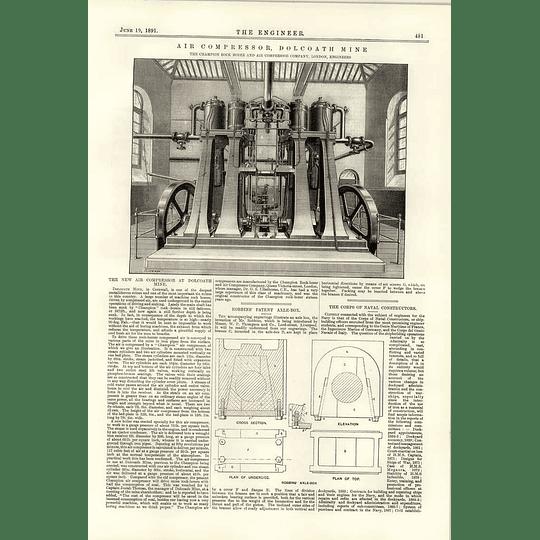 1891 New Air Compressor Dolcoath Mine Cornwall