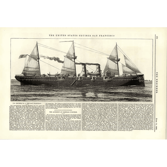 1891 United States Cruiser San Francisco Accident Norwood Junction