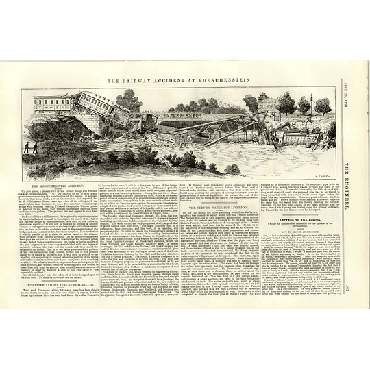 1891 The Railway Accident At Moenchenstein Doncaster Future Coalfields