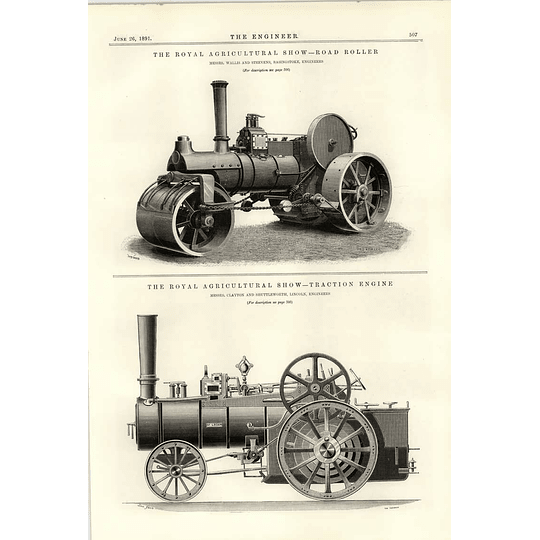 1891 Wallis Steevens Basingstoke Road Roller Traction Engine St Leger