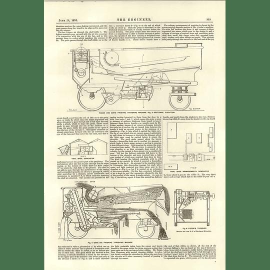 1891 Thrashing Machine Trials Doncaster Coulta Foden