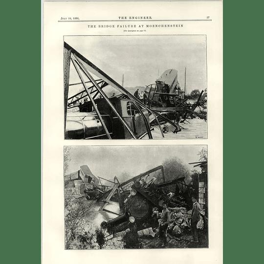 1891 Bridge Failure At Moenchenstein Railway Catastrophe
