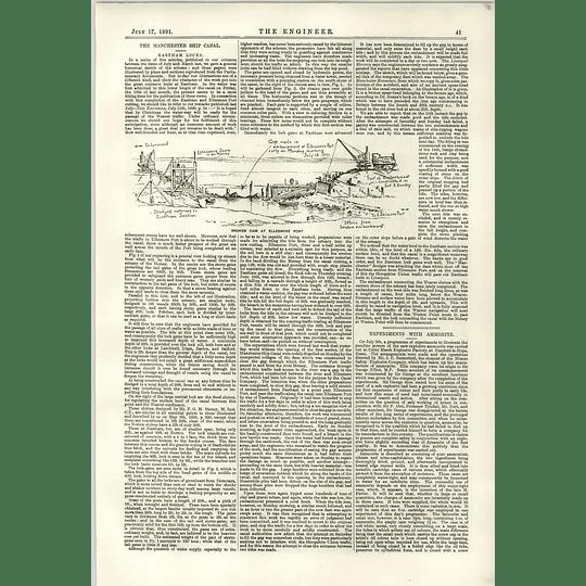 1891 Broken Dam Ellesmere Port Eastham Locks Ammonite Experiments