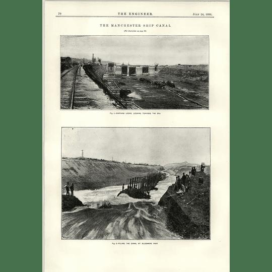 1891 East Ham Locks Manchester Ship Canal Ellesmere Port