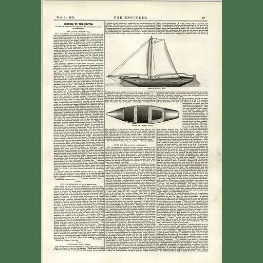 1891 Unsinkable Steel Boats Wells