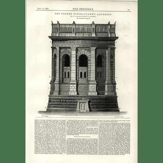 1891 Norton Tower Vyrnwy Aqueduct Gf Deacon