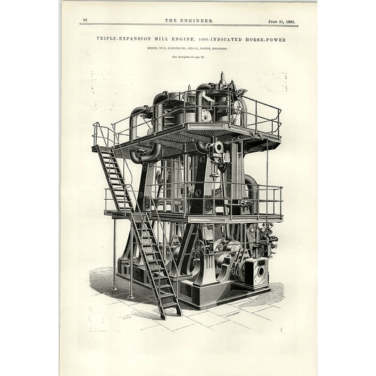 1891 1000 Hp Mill Engine Hick Hargreaves Bolton