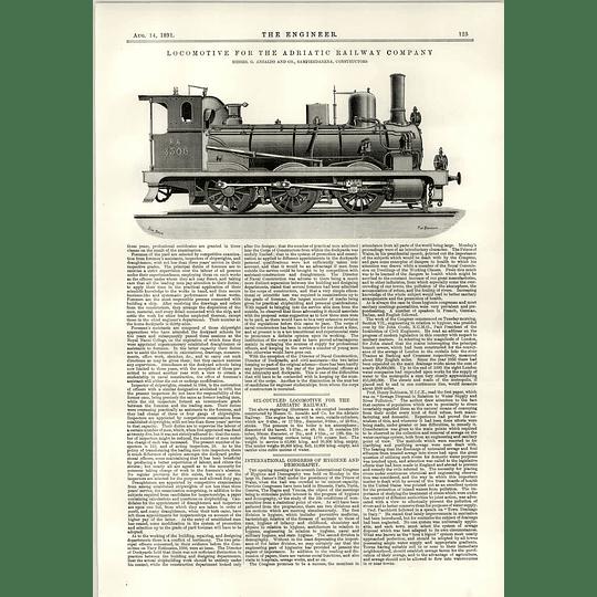 1891 Adriatic Railway Company Locomotive Ansaldo Sampierdarena