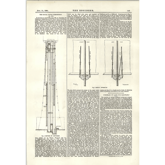 1891 Section Of Eddystone Lighthouse Steam Pump Safety Apparatus