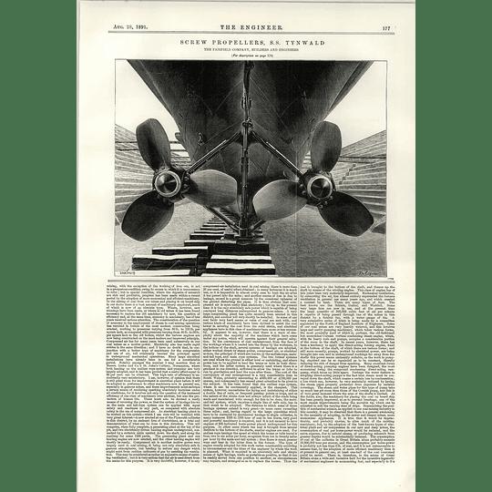 1891 Screw Propellers Ss Tynwald