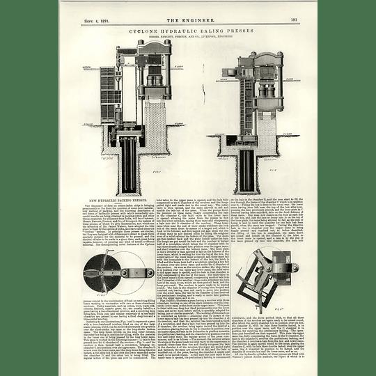 1891 Indian Panoli Broken Bridge Cyclone Hydraulic Baling Press