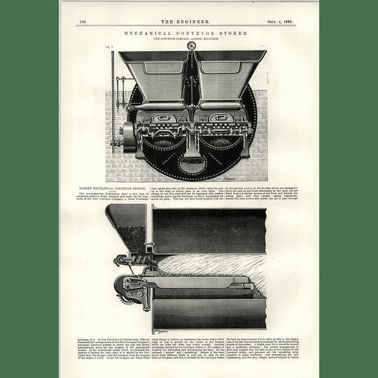1891 Mechanical Conveyor Stoker Taking Impossible