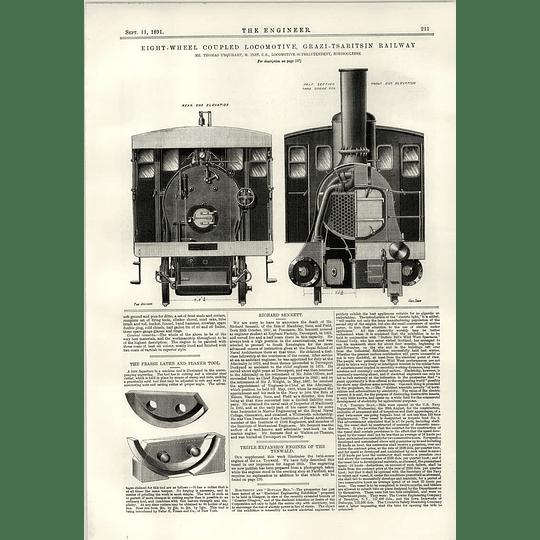 1891 Grazi Tsaritsin Railway South-east Russia Illustration Richard Sennett
