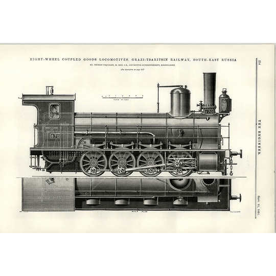 1891 Grazi Tsaritsin Railway South-east Russia Illustration Coupled Goods