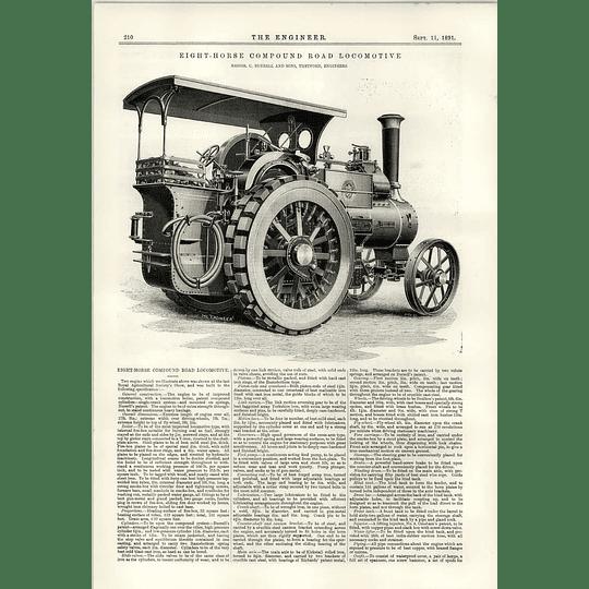 1891 Eight Horse Compound Road Locomotive Burrel Thetford