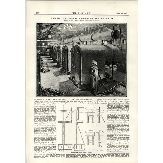 1891 Davey Paxman Colchester Main Boiler Shed Hold Handy Ladder Anderson