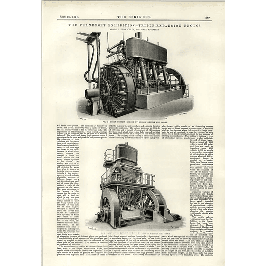 1891 Ac/dc Machines Siemens Halske Stuttgart