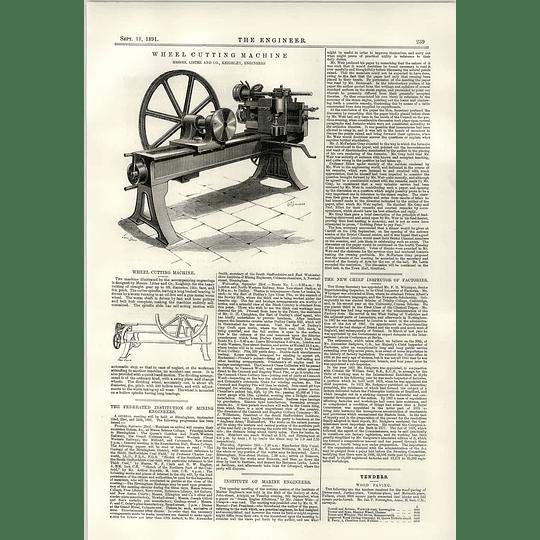 1891 Wheel Cutting Machine Lister Keighley