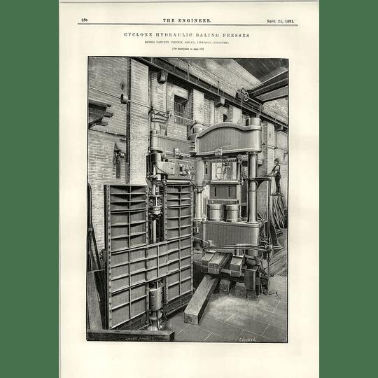 1891 Fawcett Preston Liverpool Cyclone Hydraulic Baling Press