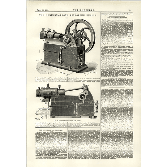 1891 Hornsby Ackroyd Petroleum Engine Cylinder Water Temperatures