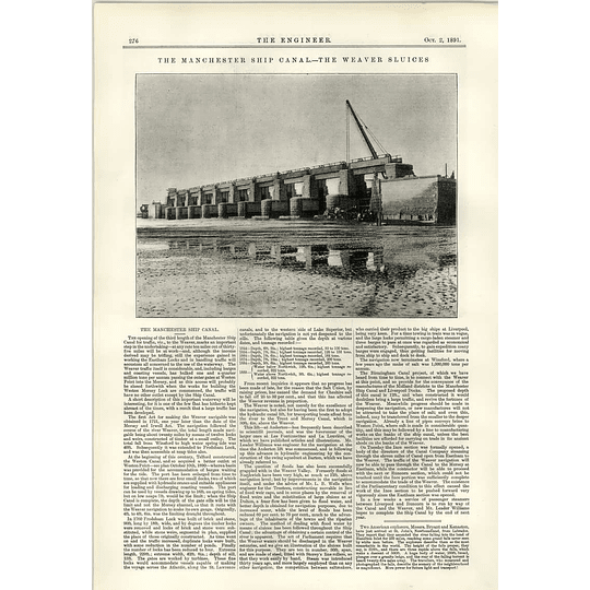 1891 The Weaver Sluices On The Manchester Ship Canal