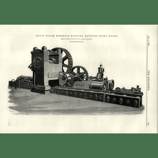 1891 Heavy Bloom Shearing Machine Newburn Steelworks Buckton Leeds