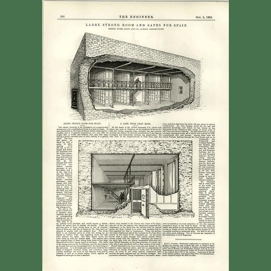 1891 Steel Strong Room For Spain Hobbs Hart Kimble Engine
