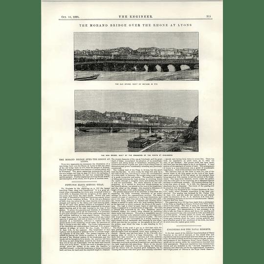 1891 Morand Bridge Rhone Lyons Ponts Et Chaussees
