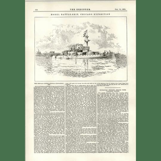 1891 Model Battleship Chicago Exposition