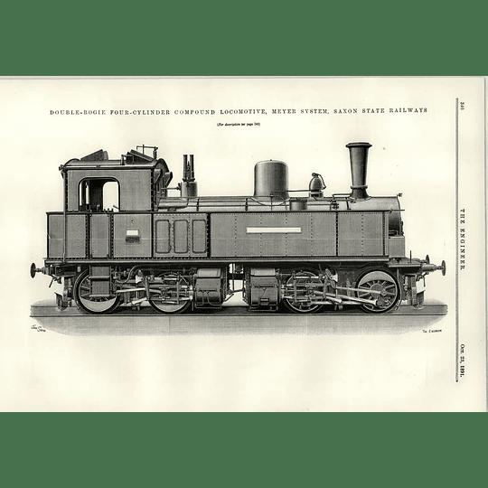 1891 Double Bogey Four-cylinder Locomotive Saxon State Railway Tube Making