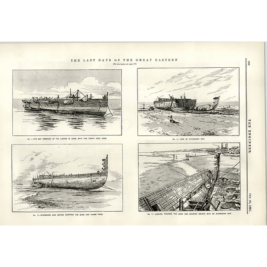 1891 Last Days Of The Great Eastern Sinking Wells And Shafts Ss Mexican