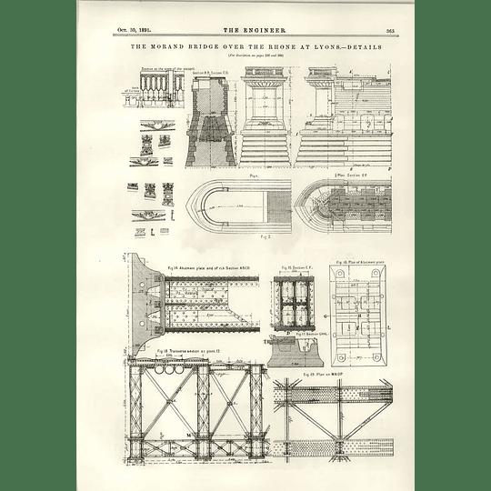 1891 Morand Bridge Over The Rhone Details Trotter Curve Ranger
