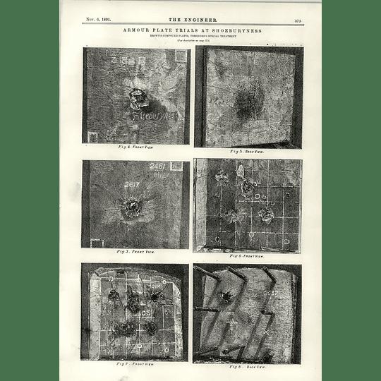 1891 Armour Plate Trials Shoeburyness Compound Plates Special Treatment