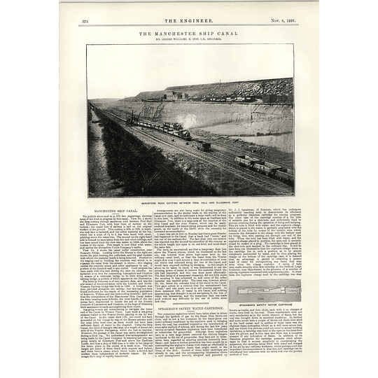 1891 Sandstone Rock Cutting Between Pool Hall And Ellesmere Port Speakman Safety Cartridge