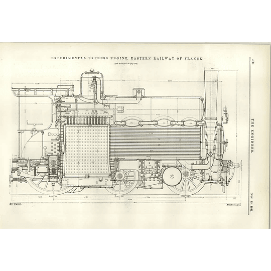 1891 Experimental Express Engine Eastern Railway Of France Diagrams