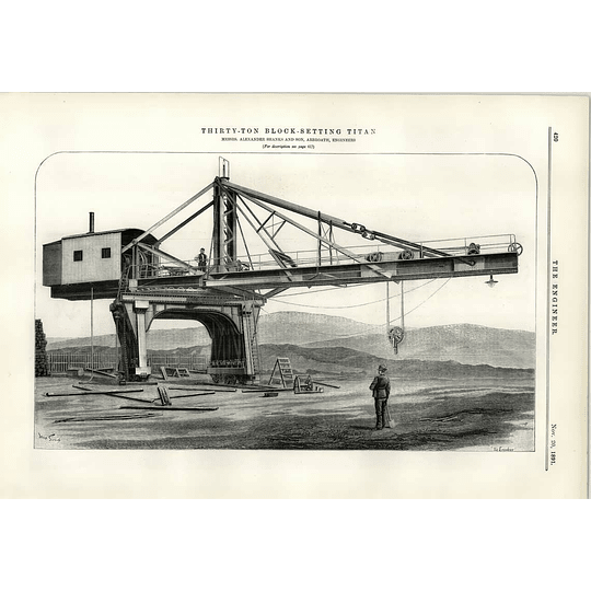 1891 30 Ton Block Setting Titan Alexander Shanks Arbroath
