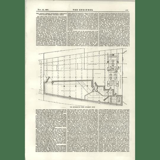 1891 Refrigerator Room Steamship Ophir