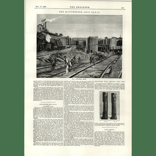 1891 Latchford Locks Manchester Ship Canal Manganese Pins