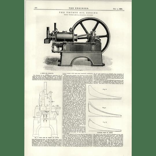 1891 New Oil Engine Trusty Weyman Guildford