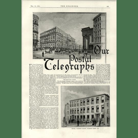 1891 Postal Telegraph System Telegraph Street