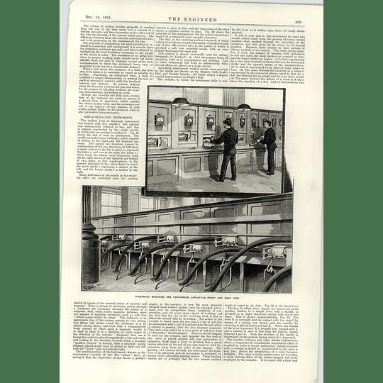 1891 Telegraph System Receiving Forwarding Apparatus Duplex Telegraphy