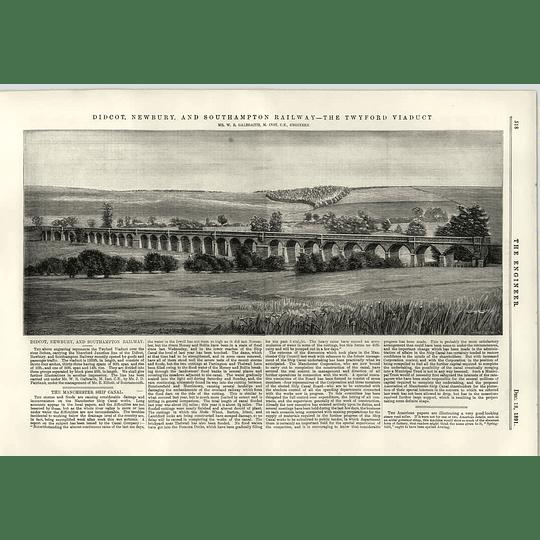 1891 Didcot Newbury And Southampton Railway Twyford Viaduct