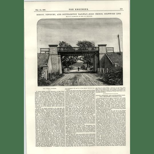 1891 Didcot Newbury Southampton Railway Road Bridge Shawford Line Twyford Viaduct