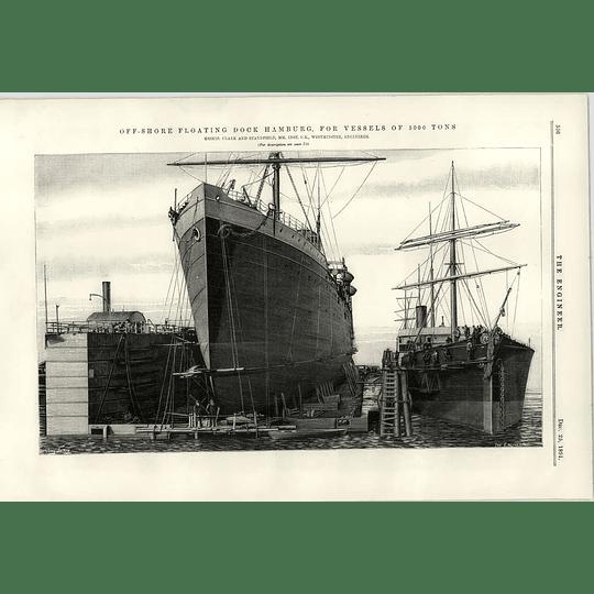 1891 Offshore Floating Dock Hamburg Clark Stanfield Wheelbarrows