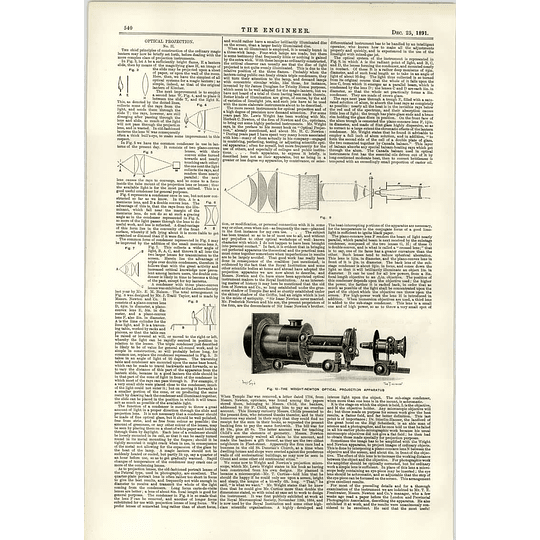 1891 Optical Projection Wright Newton Apparatus