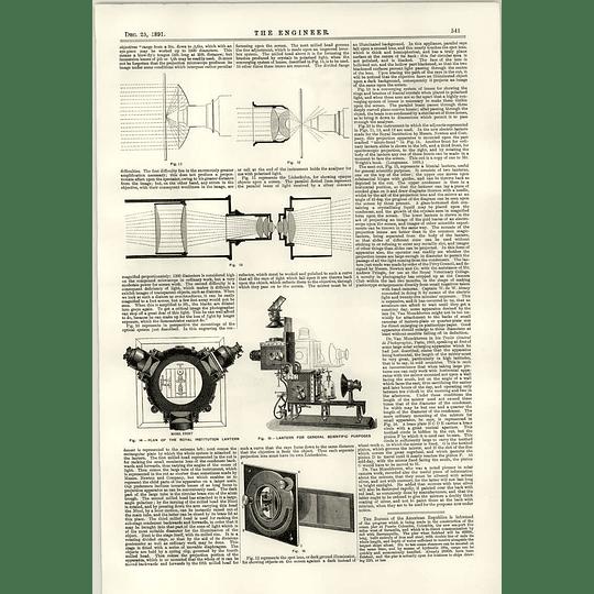 1891 Compensating Steering Gear Harfield Blaydon Royal Institution Lantern