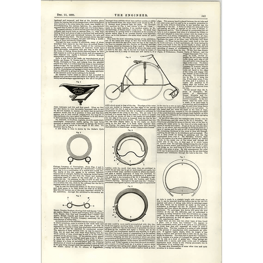 1891 Rotary Boiler Feed Pump Advances In Cycle Wheels Fittings Lancashire Boiler