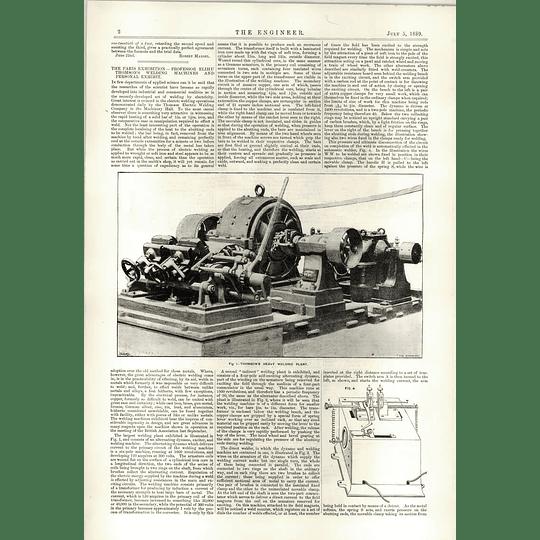 1889 Prof Elihu Thomsons Welding Machine Heavy Duty