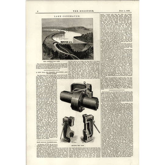1889 Conemaugh Dam East London Water Works Seaton Bolt Star Kingston Sewage