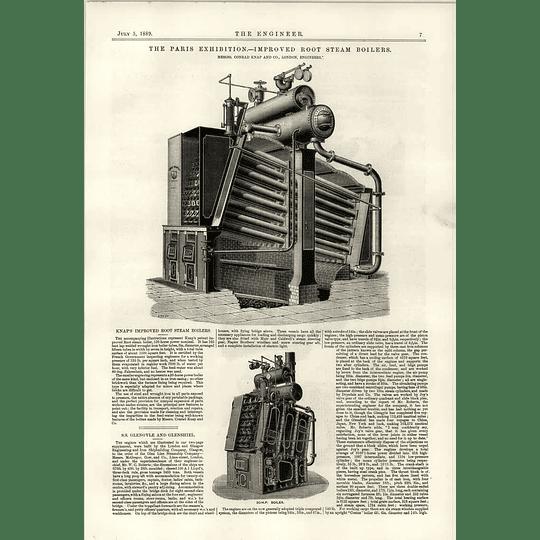 1889 Knaps Improved Root Steam Boiler Ss Glenshiel Glennisle